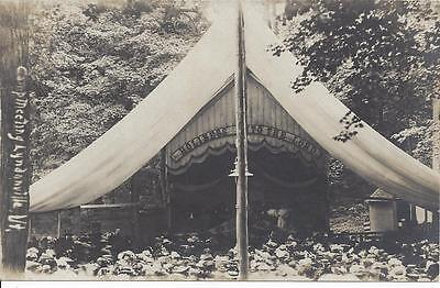 Camp Meeting,lyndonville,vermont,real Photo, Holiness To The Lord,large Tent