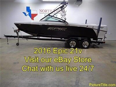 2017 Epic 21V Wakeboard Boat Tower 3600lb Ballast Heater Bimini LED Lights