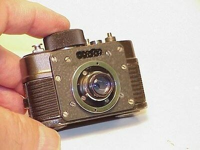 "Russian Button Hole  "" Cold War "" genuine spy camera  ( Robot style )"