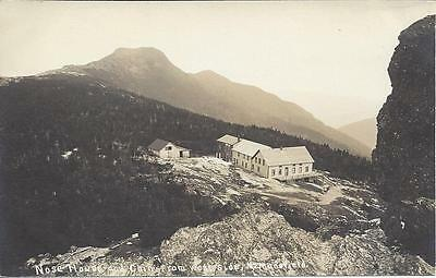 Nose House And Chin From West Side, Mt. Mansfield, Real Photo,buildings, Deck