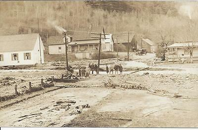 Granville,vermont,flood Damage,nov. 1927,real Photo,onlookers,road Washout,auto