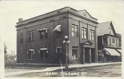 Bank, Orleans, Vermont,real Photo Postmarked 1921, 1913 In Wreath Top Front