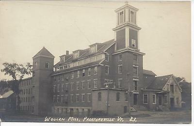 Woolen Mill, Proctorsville,vermont, Real Photo By Eastern Illustrating Co.