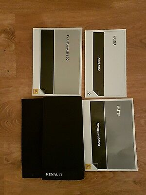 Renault Master Owners  Handbook Wallet And Blank Service Book  2010-2016