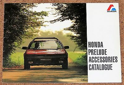 1982-87 HONDA PRELUDE ACCESSORIES Sales Brochure - Japanese Market & Text