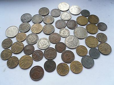 Collection of Germany Currency, Pfennigs/Marks, Great Condition.