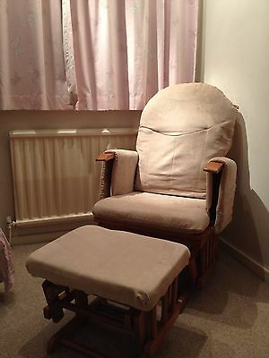 Gliding / Rocking Nursing Chair With Gliding Footstool