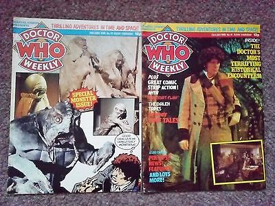 Dr Who Magazine Weekly Issue 37 And 41 Collectable