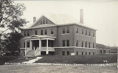 Administration Building,vermont Industrial School, Vergennes, Vt. Real Photo