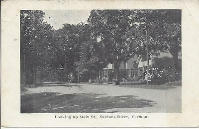 Looking Up Main Street,saxtons River,vermont,postmarked 1909,pub. By C.w. Osgood