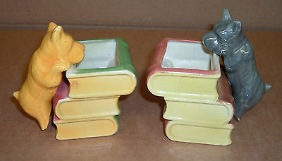 SCOTTY DOG BOOKENDS Old Excellent Condition Pen Pencil Holders