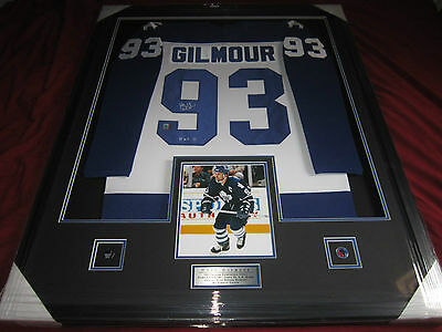Doug Gilmour Toronto Maple Leafs  Framed  Auto  Signed Auto Jersey