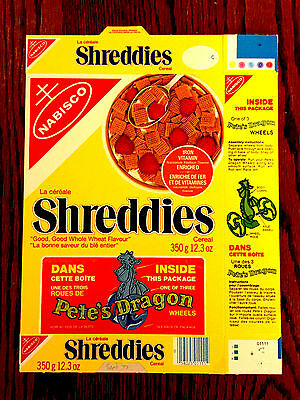 1977 Pete's Dragon Shreddies Cereal Box Disney Movie RARE FLAT NEVER USED