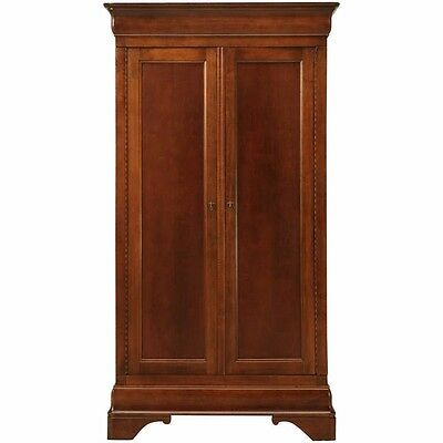 Vintage American Cherry Louis Philippe Style Armoire by National Mount Airy