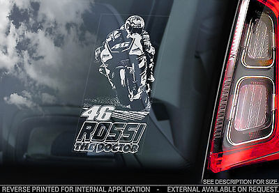 Valentino Rossi #46 -Moto GP Car Sticker- MotoGP Yamaha - Vale 'The Doctor' TYP1