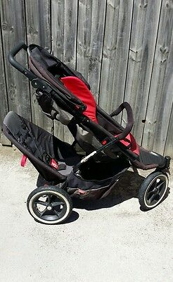 Phil and Teds double Explorer pram