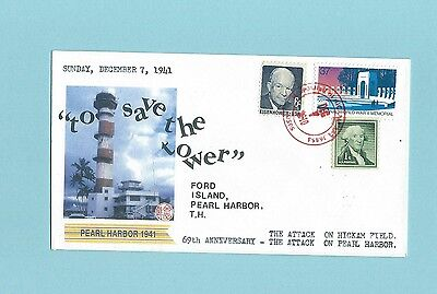 WWII FDC * Pearl Harbor Hawaii * Ford Isl TH * Save the Tower * 69th Anni 2010