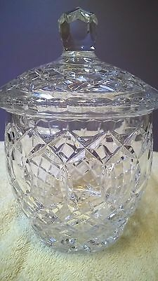 Vintage Round Crystal Covered Candy Dish / Mint / Flawless