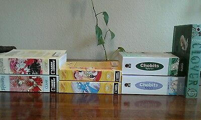 Magic Knight Rayearth,Angelic Layer, Chobits,Clover Clamp Complete  Manga Lot