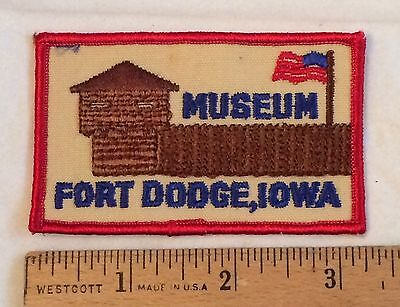 Fort Dodge Museum Iowa IA Souvenir Patch Badge
