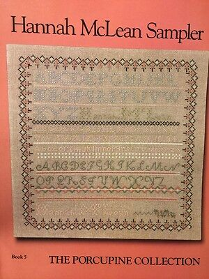 Porcupine Collection HANNAH McLEAN sampler cross stitch pattern oop