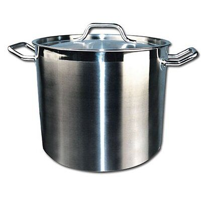 Winware Stainless Steel 32 Quart Stock Pot with Cover