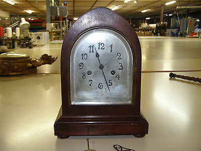 Antique mantel clock, no makers marks, runs and chimes well
