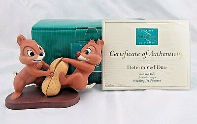 "WDCC ""Determined Duo"" Chip and Dale from Disney's Working For Peanuts in Box COA"