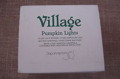 Department 56 Village Pumpkin Lights Halloween