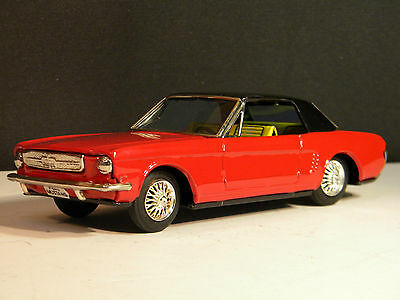 Vintage  1965 Mustang   By Bandai Of Japan Tin Friction Very Nice !!!!!