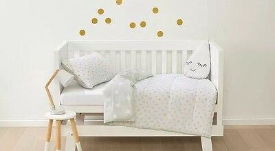 Baby Cot Toddler Bed Reversible Comforter Set