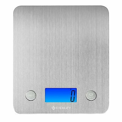 Etekcity Stainless Steel Kitchen Scale, Digital Food Scale With 30% Larger