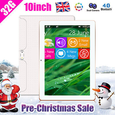 """32GB 10"""" INCH HD Quad Core Android 4.4 Capacitive Screen WIFI Tablet PC UK STOCK"""