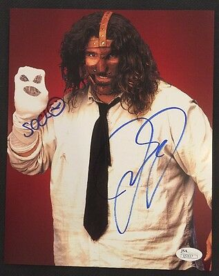 MICK FOLEY AUTOGRAPHED 8x10 JSA AUTHENTICATED COA WWE AUTO MANKIND & Mr.SOCKO