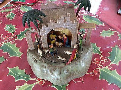 Antique Musical Christmas Nativity. Made In Germany