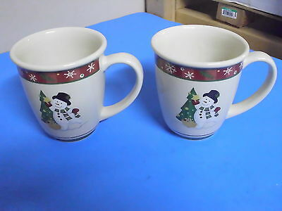 Lot Of 2 Longaberger Holiday Mugs