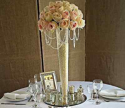 2 x Large Tall Conical Vase 60cm Wedding Table Event Decoration EF