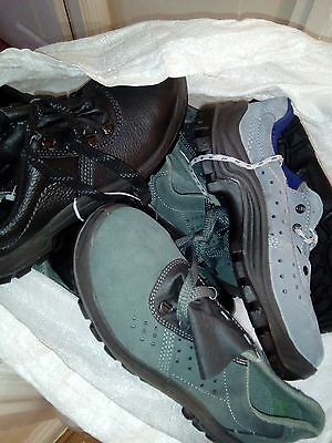 joblot of 10 safety work shoes/boots