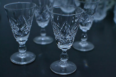 4 crystal sherry glasses