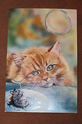 Russian modern postcard Cat and mouse