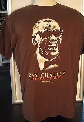 RAY CHARLES Father Of Soul TEE SHIRT Sz 1X  R&B Music Icon Legend