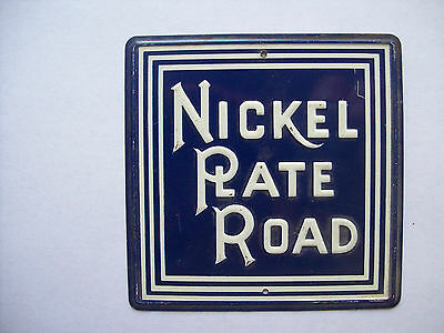 VINTAGE 1950s POST CEREAL METAL RAILROAD HERALD LOGO SIGN – NICKEL PLATE ROAD