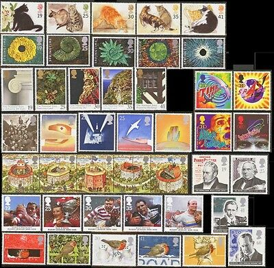 GB Stamps 1995 – 9 Used Commemorative Sets (43 Stamps)