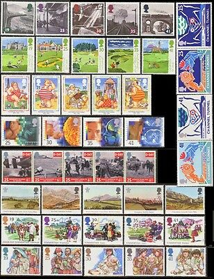 GB Stamps 1994 – 9 Used Commemorative Sets (43 Stamps)