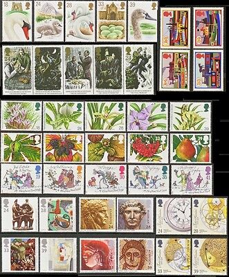 GB Stamps 1993 – 9 Used Commemorative Sets (41 Stamps)