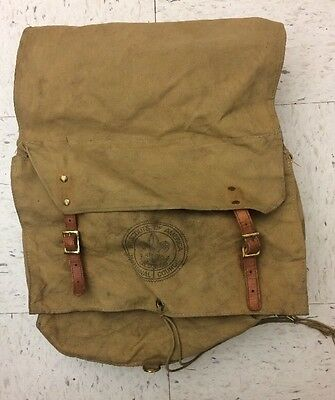 Vintage Boy Scouts of America Canvas Deep Backpack: NO RESERVE AUCTION