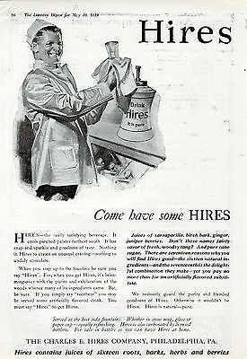 1919 Hires Root Beer ad -Served at Fountains & in Bottles-[-235