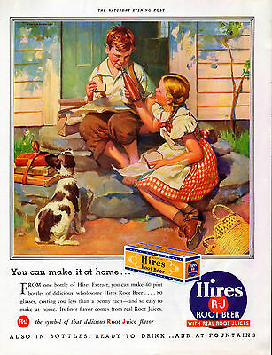 1937 Hires Root Beer Ad --Extract & Bottled --=451