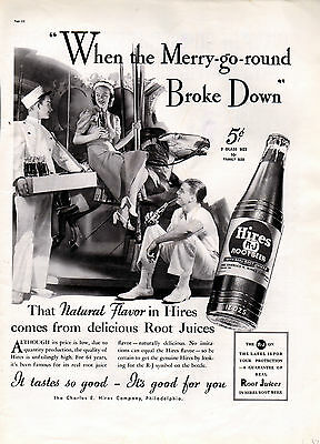 1937 Hires Root beer ad soda ad -0-739