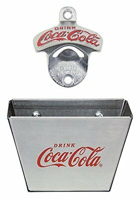 TableCraft Coca-Cola CC341361M Wall Mount Bottle Opener with Cap Catcher...NEW